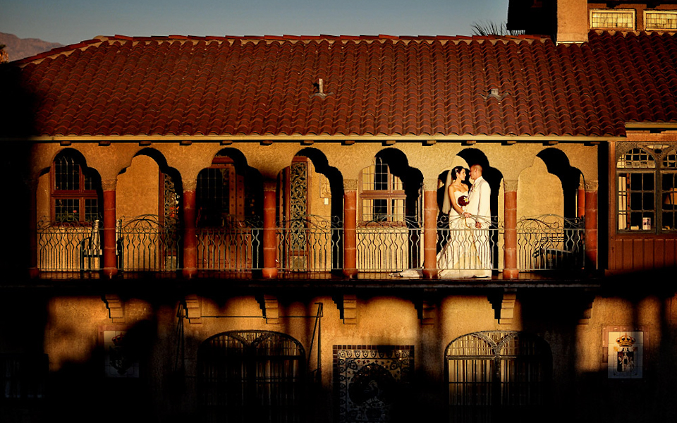 Riverside Mission Inn Wedding Couple